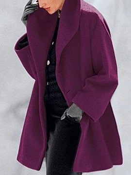 Loose Button One Button Mid-Length Women's Overcoat