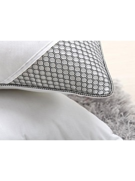Grey Bed Pillow with Lavender Ingredients