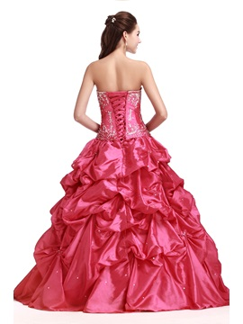 Glamorous Sweetheart Embroidery Floor-Length Pick-ups Long Sandra's Quinceanera Dress