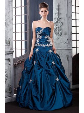 Vintage Sweetheart Pick-ups Appliques Floor-Length Lara