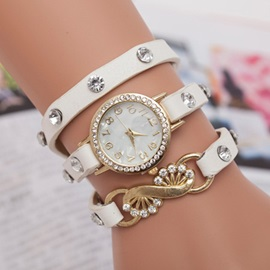 Three-layer Round Dial Women's Watch