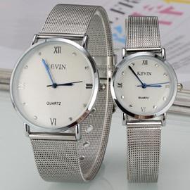 Roman Numerals Decorated Lovers' Watches ( Price for a Pair )