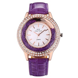 Shining Rhinestone Decorated Women's Quartz Watch