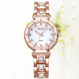 Stainless Steel Cover Luminous Women Watch