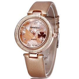 Pin Buckle Women Watch with Letters