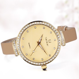 Round Luminous with Rhinestones Women Watch