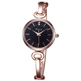 Round Alloy Cover Women Watch