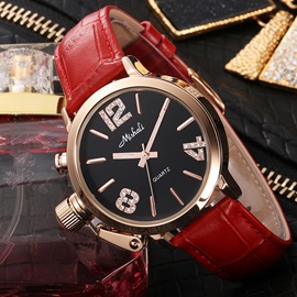 Large Dial with Rhinestone Women's Belt Watch