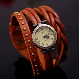 European Rivet Decorated Twist Braid Watch