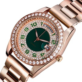 Beautiful Round Stainless Steel Band Women Watch
