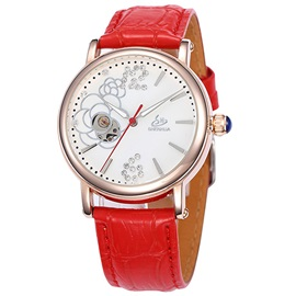 High Quality Hollow Automatic Mechanical Watch for Women