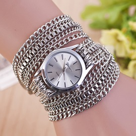 Casual Chain Winding Women Quartz Watch