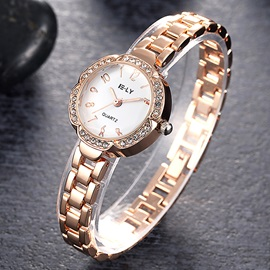 Rose Gold Tone Diamante Women's Watch