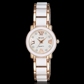 Two-Tone Roman Numeral Design Women's Watch