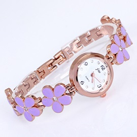 Graceful Daisy Rose Gold Tone Watch
