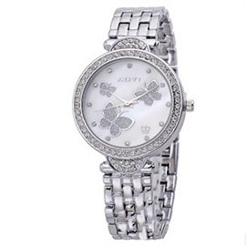 Beautiful Butterfly Pattern Diamante Watch