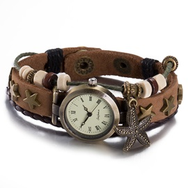 Starfish Pendant Multilayer Bracelet Watch