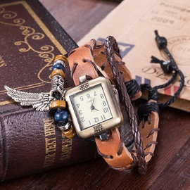 Multilayer Wing Pendant Bracelet Watch