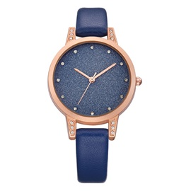 Imitation Diamond Sequins Shining Surface Alloy Waterproof Watches