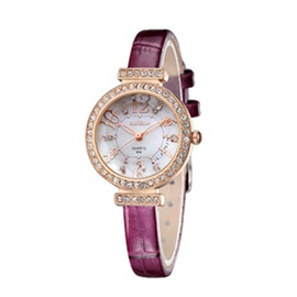 Rhinestone Water Resistant Ultra Violet Strap Watches