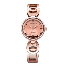 Imitation Diamond Strip Scale Hollow Band Watch