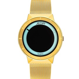 Analogue Display Metal Band Solar Eclipse Couple's Watch