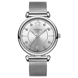 Chic Rhinestone Decorated Stainless Steel Casual Watch