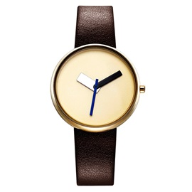 None-Scale Glass Surface Smooth PU Band Fashion Watch