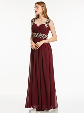 Straps Appliques A Line Evening Dress & Trends under 300