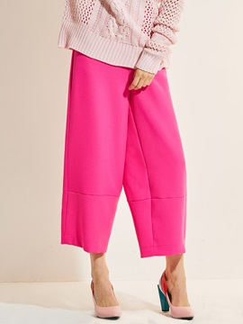 Plain Wide Legs Loose Casual Pants
