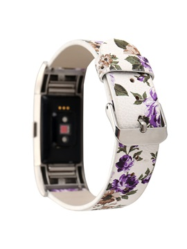 Fitbit Charge2 Band,Floral Genuine Leather Smart Bracelet Strap
