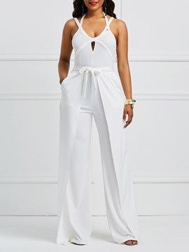 Backless Patchwork Women's Jumpsuit