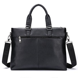 Solid Letter Men Handbag