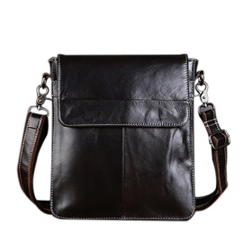 Zipper Genuine Leather Shoulder Bag