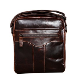 Hihg Quality Solid Genuine Leather Men Shoulder Bag