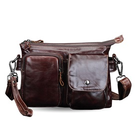 Vintage Style Genuine Leather Men's Shoulder Bag
