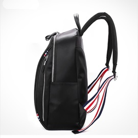 Simple Solid Color Oxford Men's Backpack