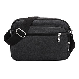 Retro Nylon Zipper Men's Bag
