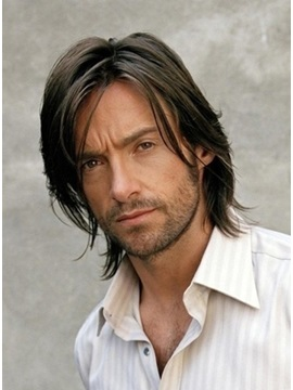 Hugh Jackman Hairstyle 100% Human Hair Hand-Tied Monofilament Top Wig 10 Inches