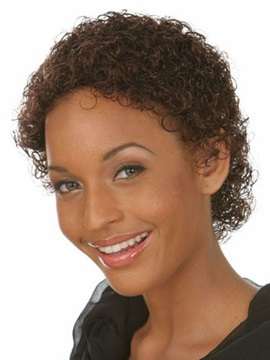 Kinky Curly Short Capless Synthetic Hair Wig 6 Inches