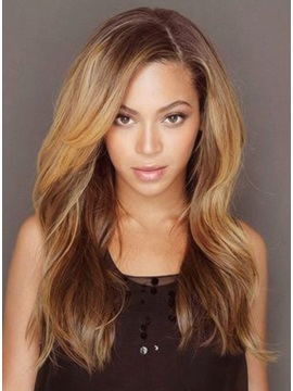 Beyonce Long Loose Wave Human Hair Lace Front Wigs 18 Inches