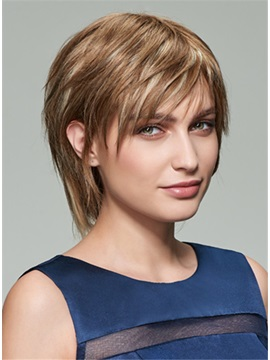 Short Straight Capless Human Hair Wig 8 Inches