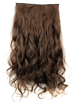 4/30 Long Wave Synthetic One Piece Clip In Hair Extension 24 Inches