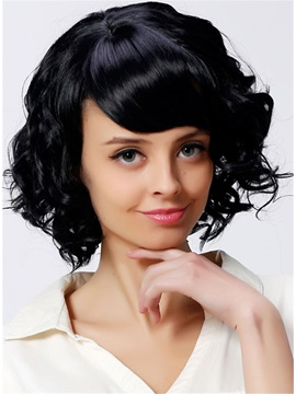 Aisi® Layered Synthetic Hair Short Wavy 12 Inches Capless Wig