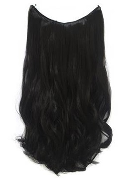 Natural Black Wavy Human Hair Flip In Hair Extensions