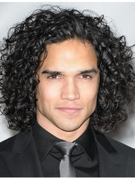Celebrity Hairstyle Long Curly Human Hair Full Lace Wig