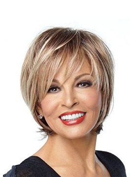 Short Bob Hairstyles Women's Heat-Friendly Natural Straight Synthetic Hair Wigs Lace Front Basic Cap Wigs 12Inch