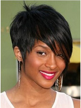 Custom Unique New Short Elegant Hairstyle 100% Remy Human Hair Perfect Wig about 8 Inches