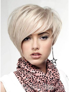New Lovely Short Hairstyle Trend Short Straight Cheap Wig about 8 Inches