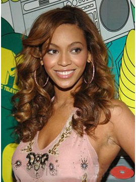 Custom Beyonce Knowles Hair Lace Front Curly Wig 100% Human Hair 18 Inches